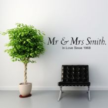 Mr & Mrs ~ Wall sticker / decals
